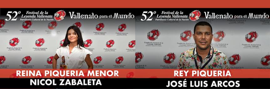 Dos nuevos Reyes de la Piqueria, infantil y mayores, en el 52° Festival de la LeyendaVallenata