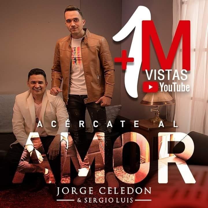 'Acércate al amor', ya superó el millón de visitas en el canal de Youtube de JorgeCeledón..-.
